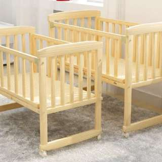 Wooden Baby Cot for infant