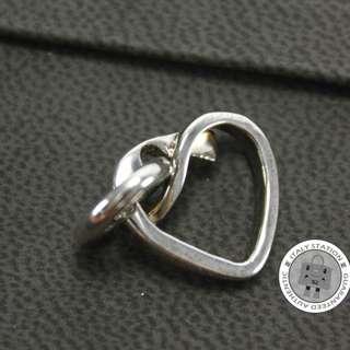 (NEW)Hermes 104062B HEART SILVER KEY CHAIN SHW, 全新 鎖匙扣 銀扣