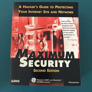 MAXIMUM SECURITY - HACKING NETWORK IT HACKER INTERNET SITE GUIDE
