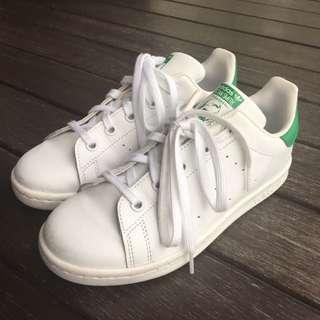 Adidas Originals Stan Smith Kids Boys white green size US 2.5