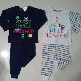 Brand NEW Boys Mix & Match Pajamas ( Pack Of 2 Sets )