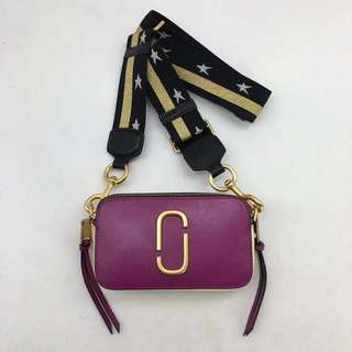 Marc Jacobs Snapshot Camera Bag - purple x yellow
