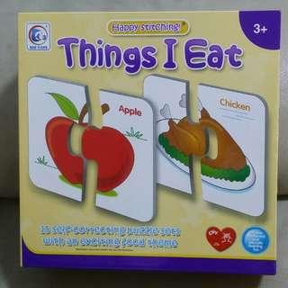 "Educational Puzzle ""things i eat"""