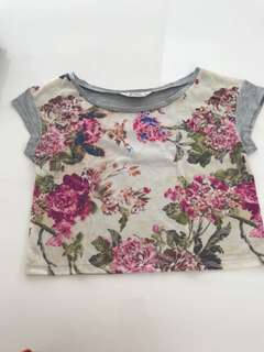 PRELOVED MISS SELFRIDGE ORIGINAL Petites Floral Crop Top Xs