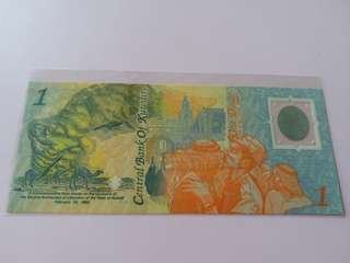 Central Bank of Kuwait 1 Dinar Polymer Currency