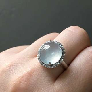 18k鑽石天然A貨木納冰戒指