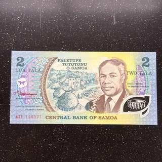 Samoa 2 Tala UNC polymer note