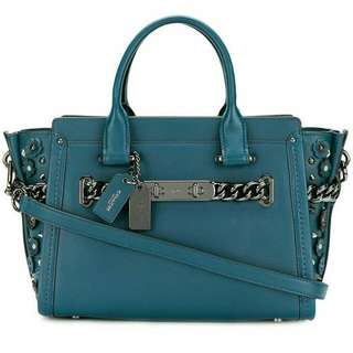 Coach swagger 27 Mineral blue leather💙