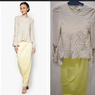 lubna skirt only soft yellow