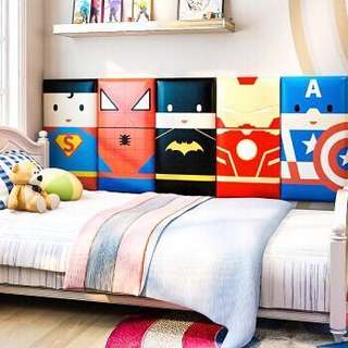 Soft wall paper Children room wall paper headboard