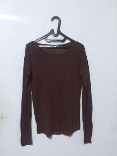 baju panjang wanita warna coklat