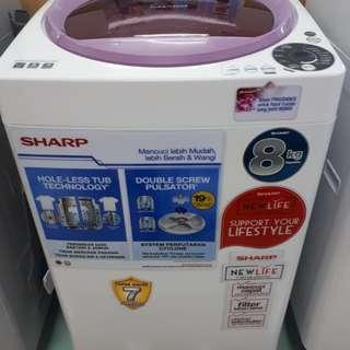Mesin Cuci SHARP 8 Kg MURAH (Kredit DP 0%)