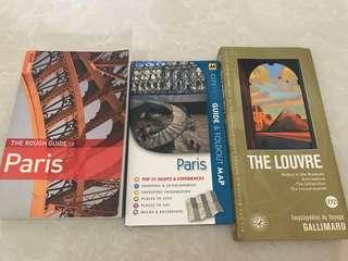 Paris travel guide x 3