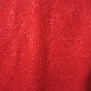Red Textured Crop Top