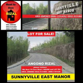 Residential lot near Sm Angono Rizal Sunnyville east manor
