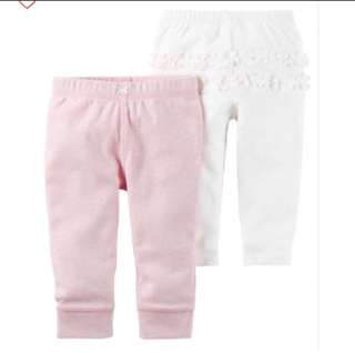*9M* BN Carter's Babysoft Cotton Pants For Baby Girl