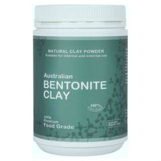 Australian Bentonite Clay 500g Australian Healing Edible Clay FOOD GRADE
