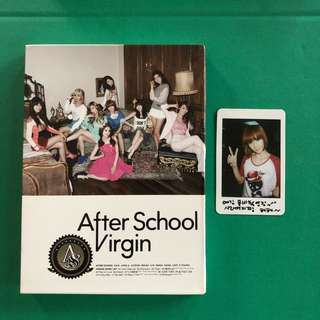 AFTER SCHOOL - VIRGIN with Jung Ah photocard