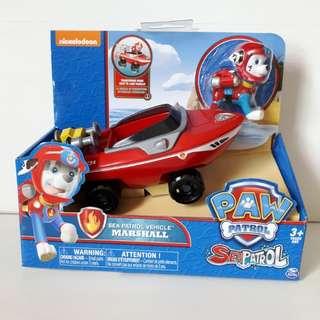 Brand new in box Nickelodeon Paw Patrol Marshall Sea Patrol Vehicle