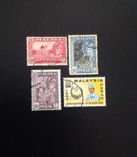 Malaya 1957 - 63 Perak Def 3V and Installation of Sultan Idris Shah 1V Used (0380)