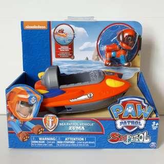 Brand new in box Nickelodeon Paw Patrol Zuma Sea Patrol Vehicle