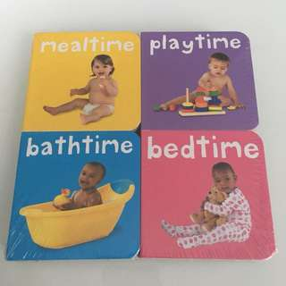 Meal time, play time, bath time, bed time