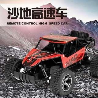 2.4G賽車沙地越野車攀爬四輪車高速車充電玩具車