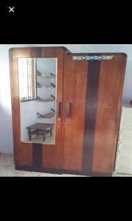 Post-WWII antique wardrobe cupboard