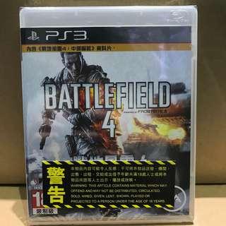全新 未開封 PS3 戰地風雲4 (中文版) Brand new PS3 BattleField 4 (CHI)