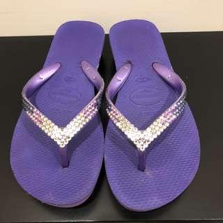 🚚 Havaianas施華洛世奇厚底涼鞋✌️8成新✌️