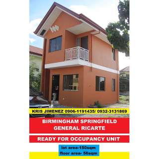Birmingham Springfield Rent to own Single attached in cainta AVAIL NOW 2 SLOT ONLY