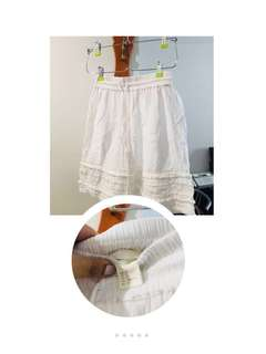 H&M White Boho Skirt