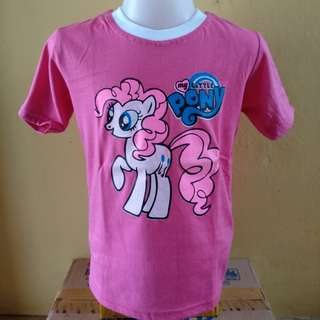 kaos anak my little pony pink putih