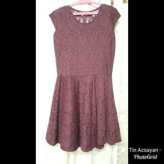 Maroon lacey dress