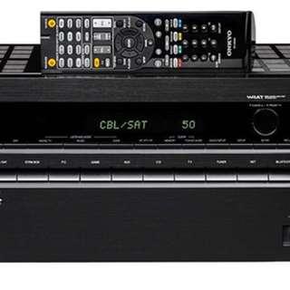 Onkyo TX-NR 545 7.2聲道擴音機(95%新,有單齊配件)