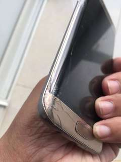 Samsung s7 edge glass broken fix repair 爆玻璃 $680 搞掂 !出面收你$9xx我真係嚇一跳得啖笑