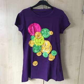 Smiley Purple Tee