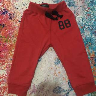 Red jogger pants 12 months