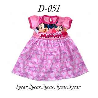 Baby Minnie mouse and sofia the first dress