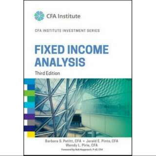Fixed Income Analysis (Third Edition)