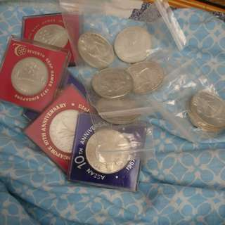 Singapore silver coins