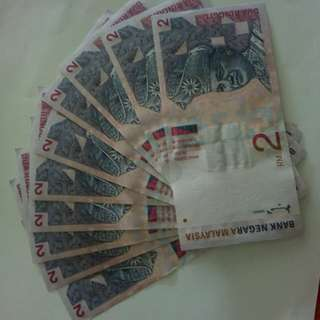 10 Pcs RM2 Currency