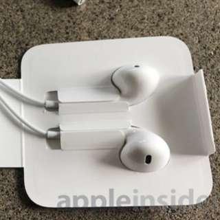 全新 iPhone 原裝 apple lightning headphones