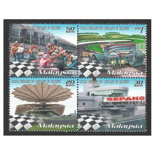 MALAYSIA 1999 MALAYSIA GRAND PRIX SEPANG BLK OF 4 STAMPS SC#752 IN MINT MNH UNUSED CONDITION