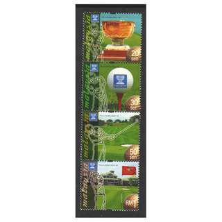 MALAYSIA 1999 MALAYSIA WORLD CUP GOLF TOURNAMENT STRIP OF 4 STAMPS SC#758-761 IN MINT MNH UNUSED CONDITION