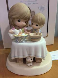 Precious Moments Mother & Son Figurine : I'll Always try to measure up to you