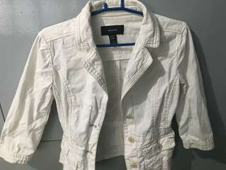 Preloved Original Mango White Jacket