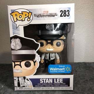 Reserve Early! Funko Pop Marvel Captain America Winter Soldier (Walmart Exclusive) - Stan Lee Cameo as Security Guard + Pop Protector