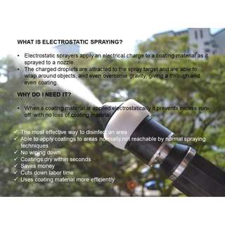 ELECTROSTATIC SPRAYING SYSTEMS
