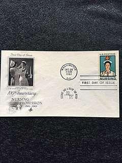 US 1961 Nursing FDC Stamp
